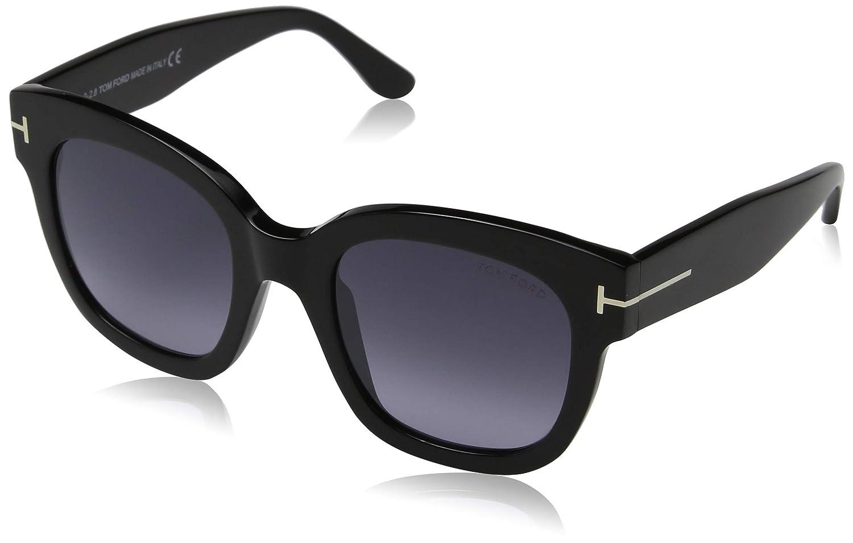 e061a03bbaf6 Amazon.com  Tom Ford FT0613 01C Shiny Black Beatrix Square Sunglasses Lens  Category 3 Lens  Tom Ford  Clothing