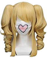 "16"" Curly Mixed Blonde Cosplay Wig + 2 ponytails -- Black Butler Elizabeth"