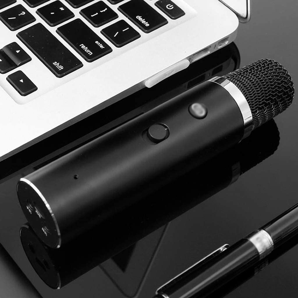 LEZDPP Mobile Phone Microphone Computer Microphone Mobile Phone Sound Card Capacitor Wheat Anchor Karaoke Game Dedicated Color : D
