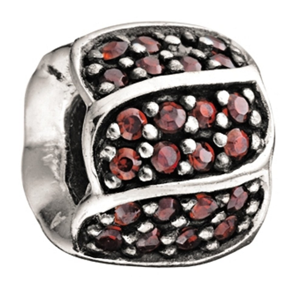 ee5830a4b Amazon.com: Authentic Chamilia RETIRED Red CZ Petals Sterling Silver Bead *  2025-0620: Home & Kitchen