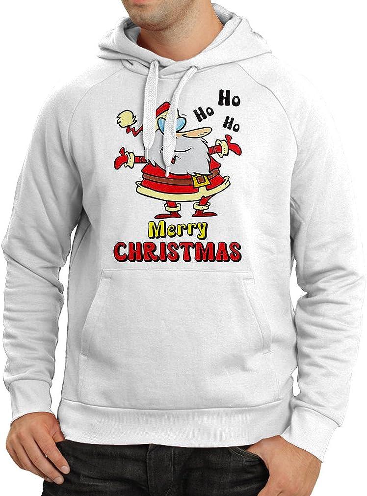 lepni.me Sudadera con Capucha Papá Noel Bailando, Camisa de Vacaciones de Navidad