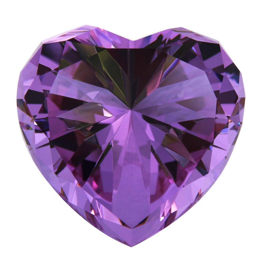 Personalized Custom Engraved Crystal Diamonds (PURPLE)