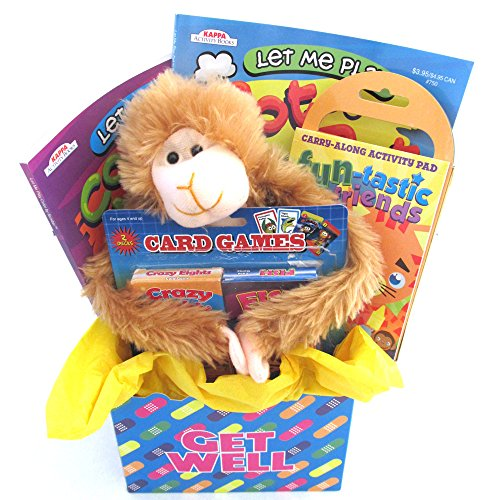 Kids Get Well Gift Box For Young Kids With Activity Books and Stuffed Animal comes Wrapped and Ready to Give by Gifts Fulfilled