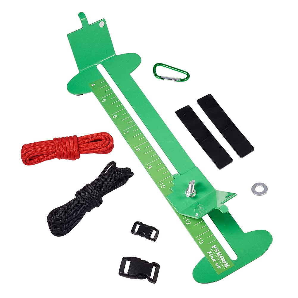 PH PandaHall Jig Bracelet Maker Wristband Maker with 2 Parachute Cords, 2 Quick Release Buckles, Clasp, Footgrip, Iron Finding- Paracord Braiding Weaving DIY Craft Tool Kit(Green) wh-TOOL-PH0034-33A