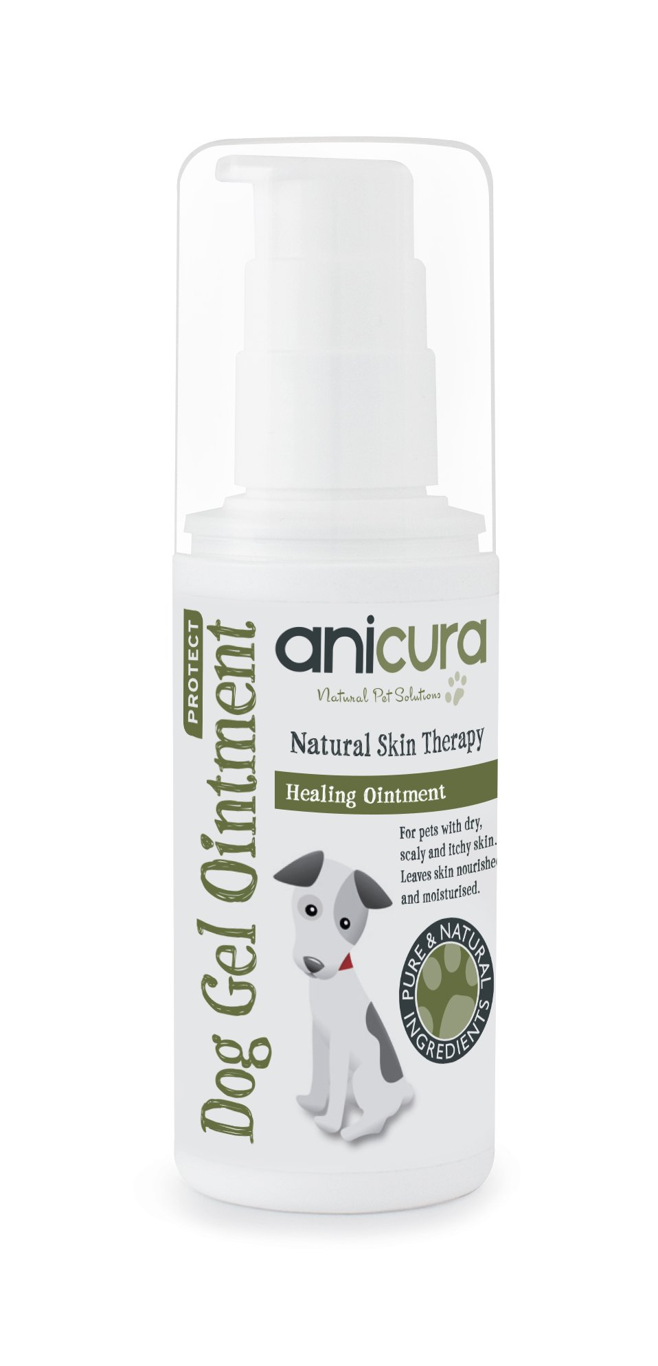 Anicura Natural Dog Gel Ointment for Itchy Skin, Hot Spots, Scabs & Wounds