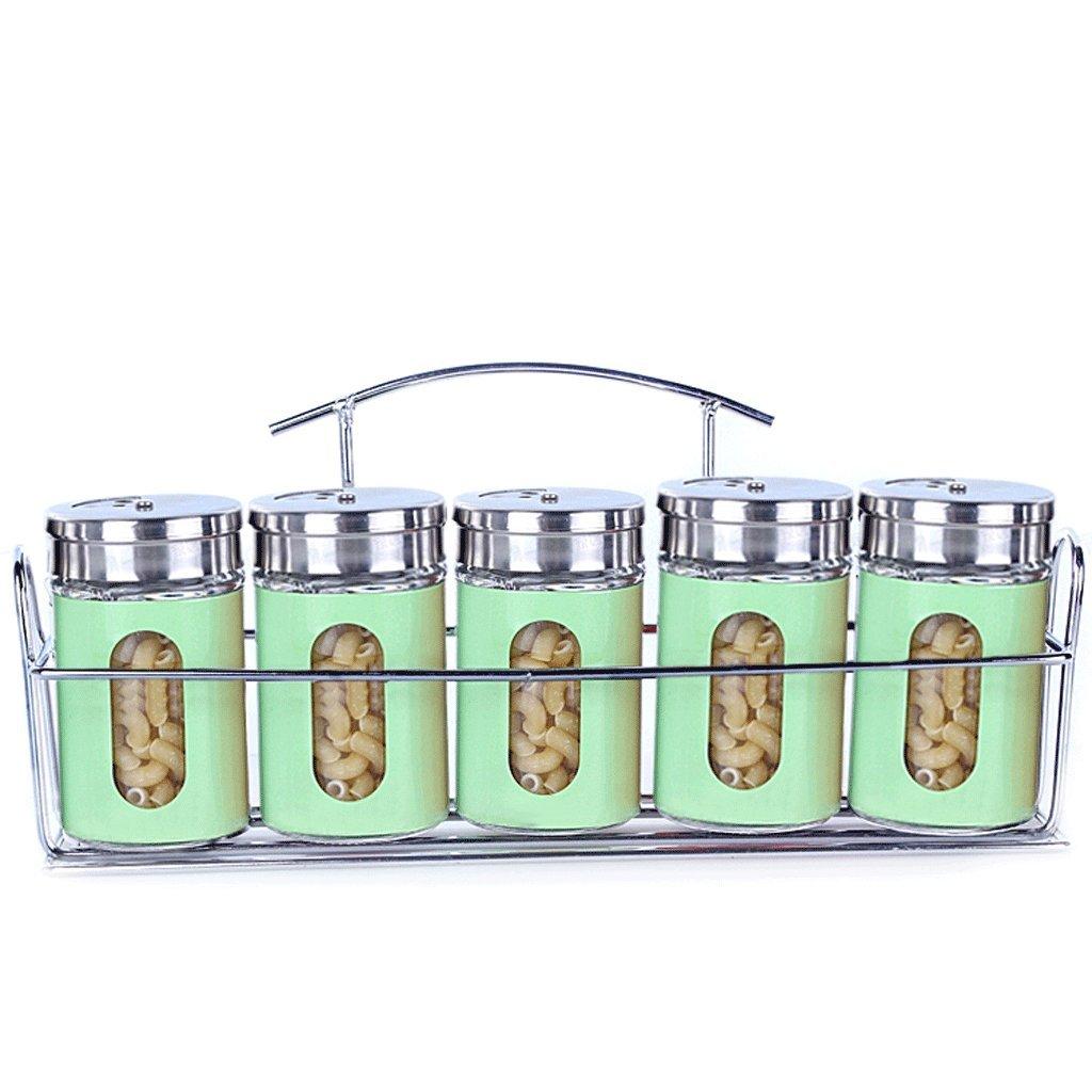 Couleur : A Pot /à /épices Assortiment dassaisonnements de cuisine en verre Assortiment d/épices de couleur assortiment