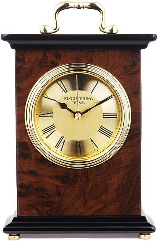 GNKAFLK Reloj de Mesa de 6 Pulgadas de Madera Maciza Relojes de ...