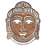 Shrinath Handicrafts Budha Face WOODEN BLOCK STAMPS HAND CARVED PRINTING BLOCK TEXTILE PRINTING