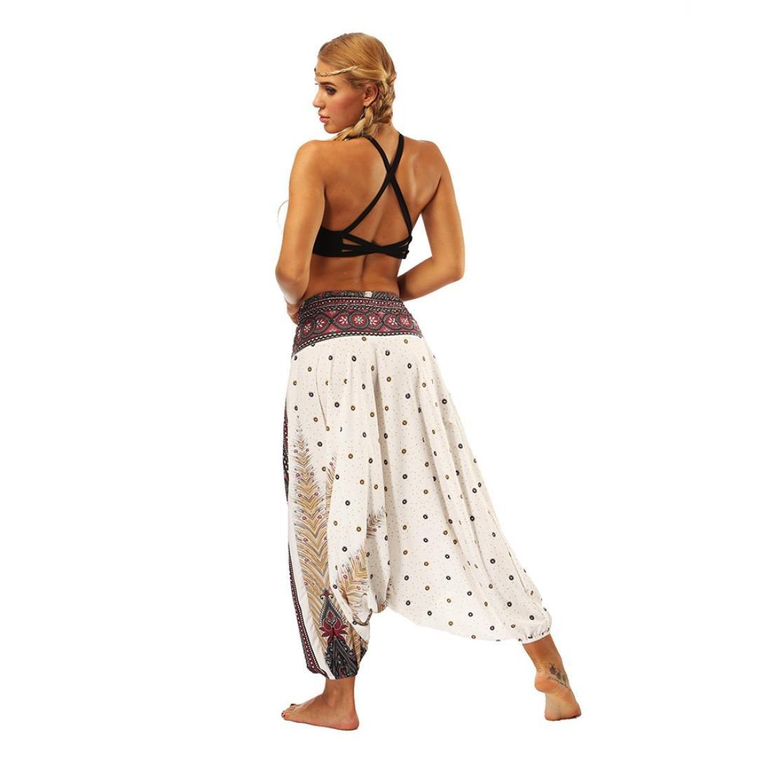 Haremshose,Resplend Thai Hippie Boho Hose L/ässige Lose Yoga Hosen Baggy Hosenrock Aladinhose Yogahosen Pumphose F/ür Damen /& Herren