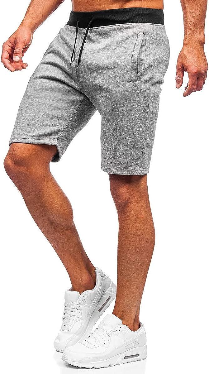 Kurzhose Sporthose Shorts Bermudas Denim Kurze Jeans Herren BOLF 7G7 Unifarben