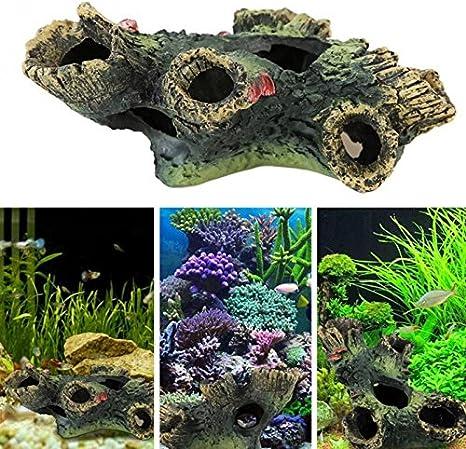 1PC Nontoxic Safe Decorative Resin Lifelike Floating Rock Fish Tank Decoration