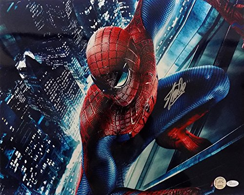 Stan Lee Marvel Comics Signed 16x20 Spider-Man Photo JSA+ Stan Lee Hologram