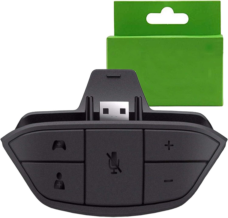 adaptador para auriculares stereo xbox one audio mic