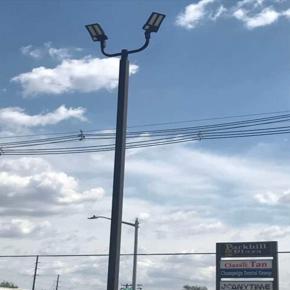 Tenon or Pole Top Mounts for Outdoor Shoebox Lighting Parking Lot Lights and Street Area Light Fixture Steel Spoke Bracket 1000LED Triple Spoke Bracket 120 Degree Arms