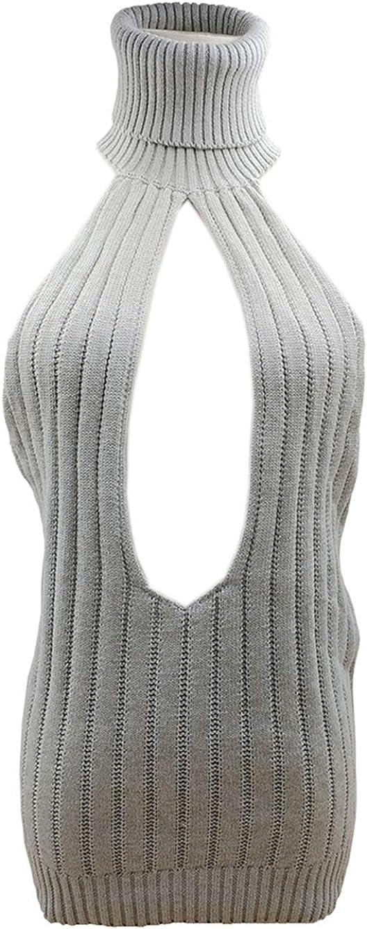 Paloli Women's Knit Virgin Killer Sweater