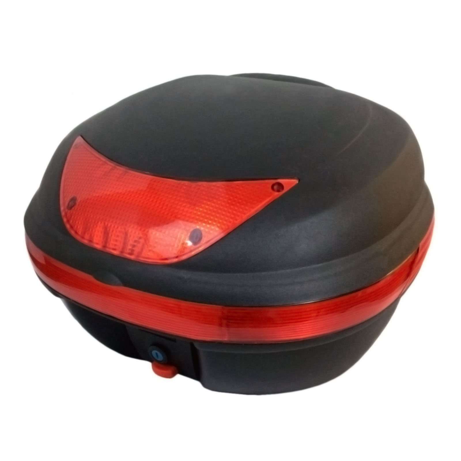 MMG Motorcycle Scooter Top Box Tail Trunk Luggage Box - 29 Lt Capacity - Can Store One (1) Helmet (997)