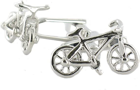 Broche de plata de bicicletas Gemelos - broche de plata de diseño ...