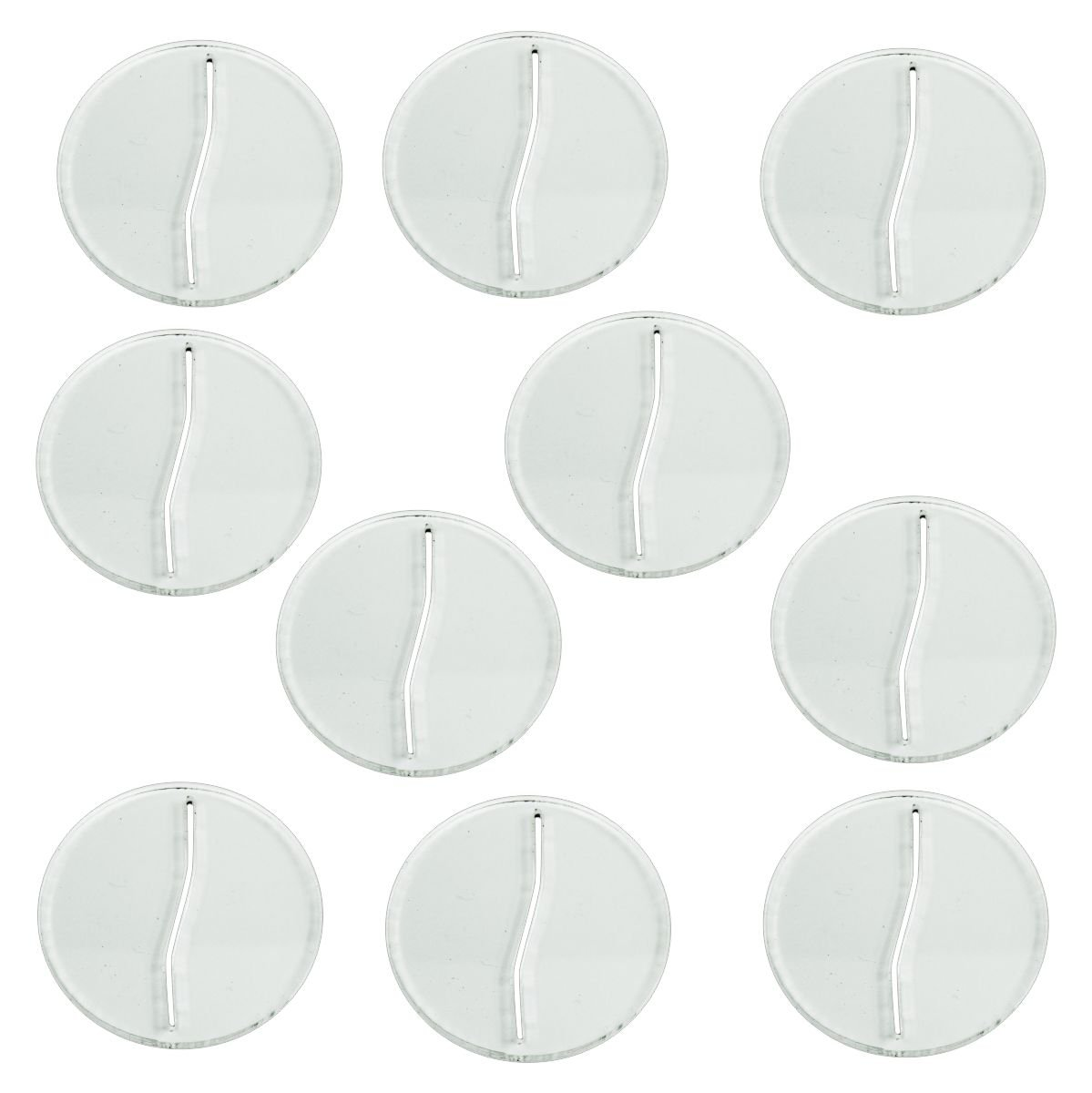 LITKO Paper Miniature Bases, 40mm Circle, 3mm Clear (10) by LITKO