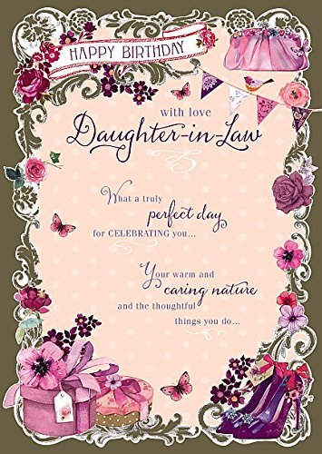Amazon Daughter In Law Truly Perfect Nice Verse Happy Birthday Greeting Card Office Products