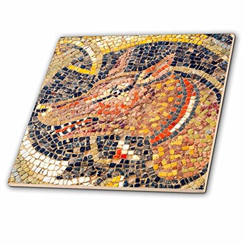 3dRose Danita Delimont - Artwork - Hunting dog Mosaic, New House Of Hunt, Bulla Regia, Tunisia - 12 Inch Ceramic Tile (ct_276614_4) by 3dRose
