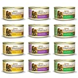 Nature's Variety Instinct Original Canned Cat Food Variety – 3 Flavors (Chicken, Lamb, Rabbit) 3 Ounce – 12 Total Cans