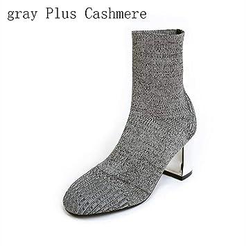 Hy Calcetines de Las Mujeres Zapatos 2018 Nueva Primavera/otoño/Invierno Botas elásticas de