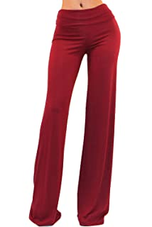 b107a9a653293 Vivicastle Women s Fold Over High Waist Wide Leg Long Palazzo Pants