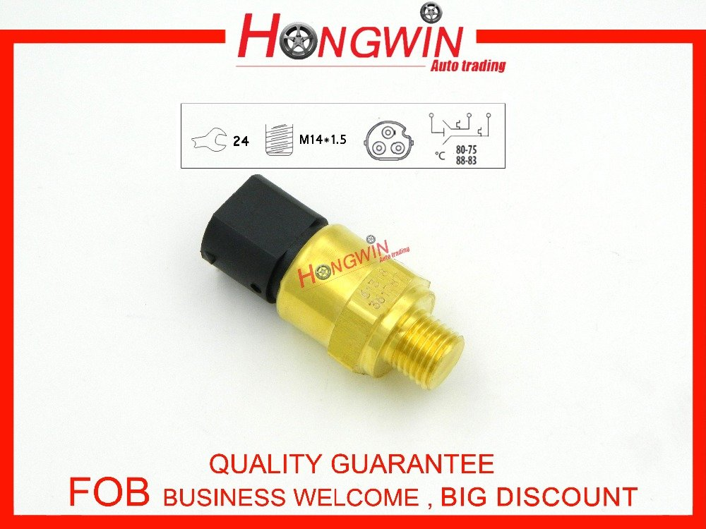 HW 61318-361787 Coolant Temperature Switch/Fan Switch For BMW-318i 318ti Z3, Radiator 80-88 Degree 1378073,61311378073 Hongwin