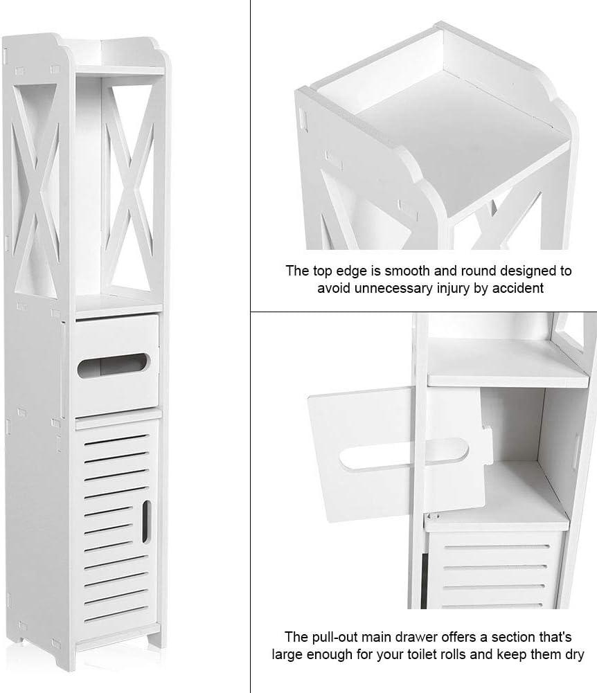 armadio alto Mobile a colonna per bagno Ausla bagno 80 x 15,5 x 15 cm per bagno colonne per WC