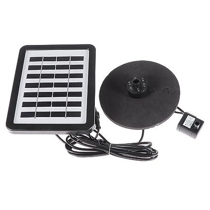 BESTOMZ Bomba de Agua Solar con Panel solar para Acuario Piscina Estanque Canalón (Negro)