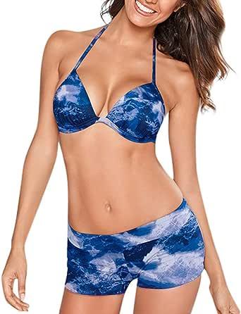 Amazon.com: Sexy Separate Tankini Bikini Swimwear for