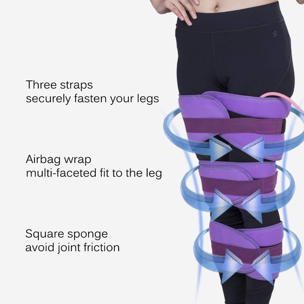 Leg Orthotics For O-legged X-legged Adult Children, Three-in-one, Airbag Compression (purple/blue) (Color : Purple) by Sharon (Image #8)