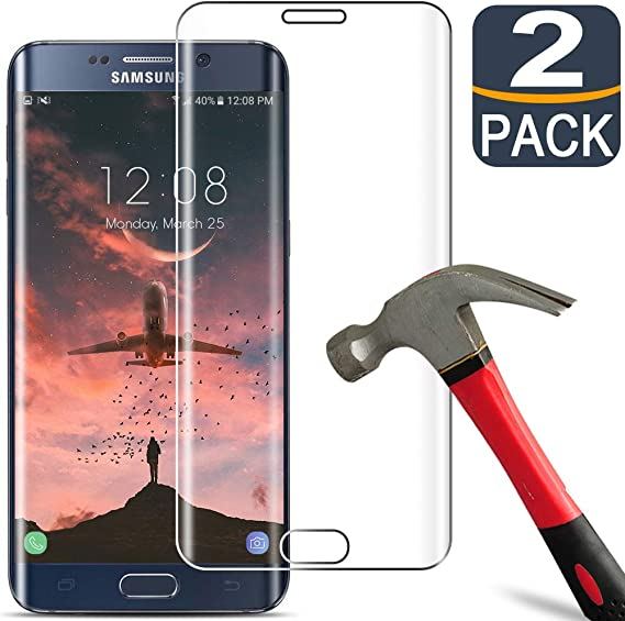 Amazon.com: [2 Pack] Samsung S6 Edge Plus Screen Protector Tempered Glass  [9H Hardness][3D Full Coverage][Anti-Scratch] Tempered Glass Screen  Protector for Samsung Galaxy S6 Edge Plus