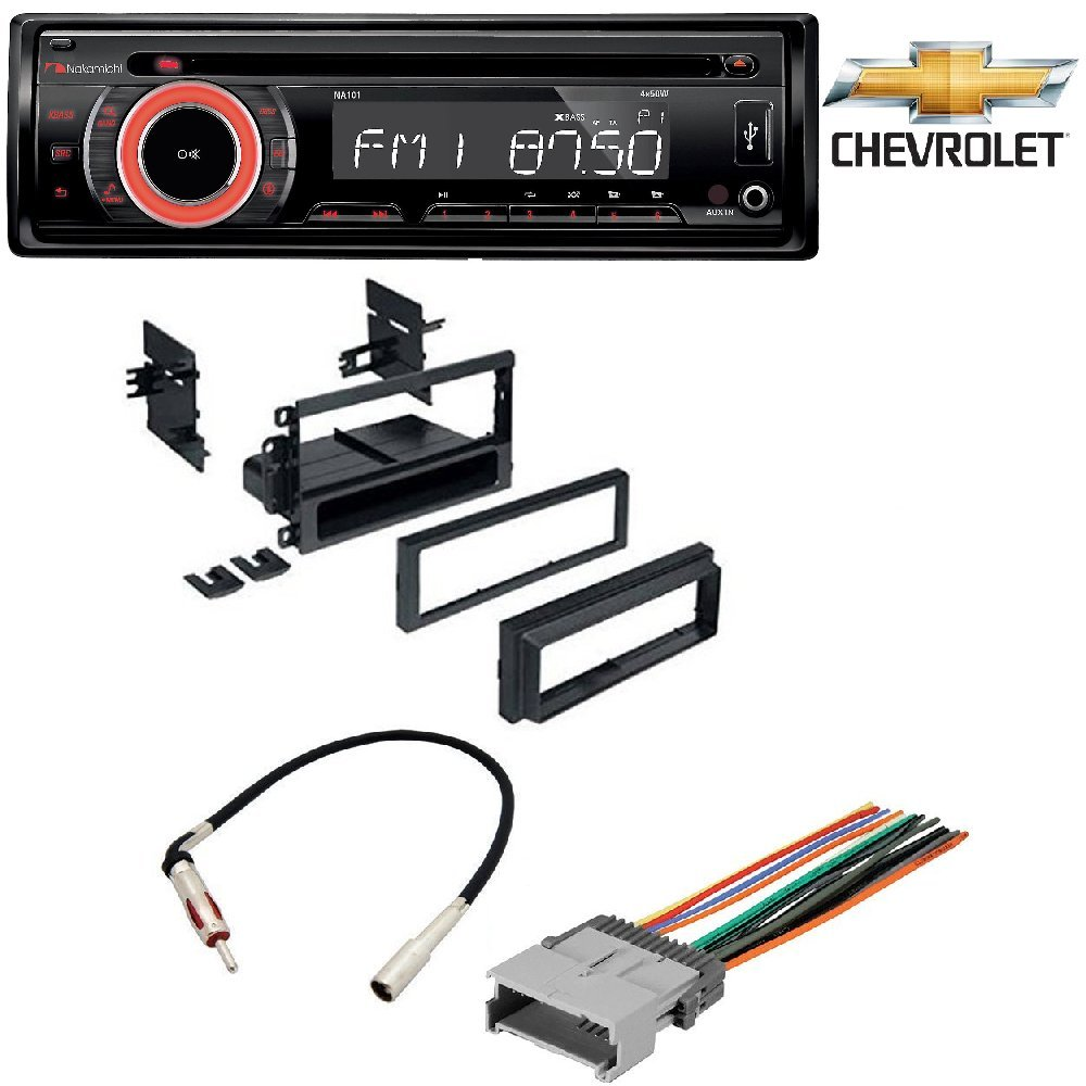 Amazon.com: NAKAMICHI NA101 Car Stereo Radio CD/USB/AUX 50Watts x 4  Detachable Face security Car Radio Stereo Dash Kit Harness Antenna for GM  GMC Chevy ...