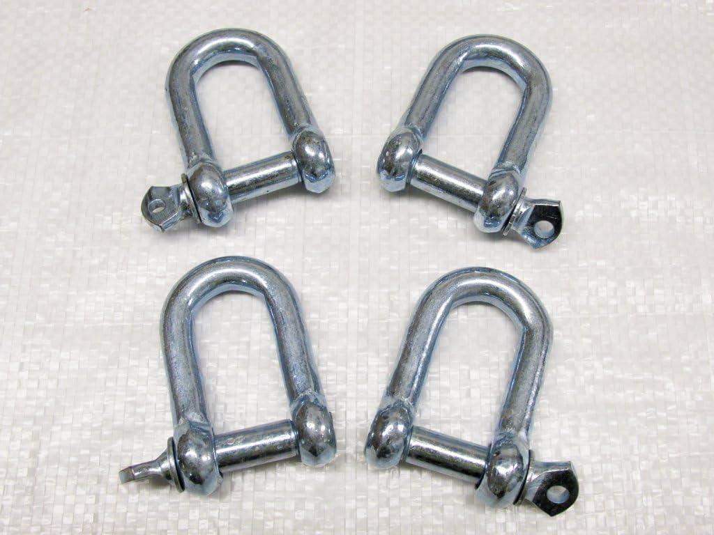 x4 10MM Galvanised Steel Commercial Dee Shackles
