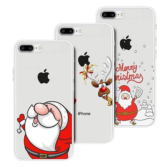 MoEvn Natale Cover per iPhone 8 3D Carina Serie Natalizie