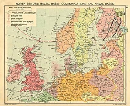 Second World WAR. North sea & Baltic. Minefields & Naval ...