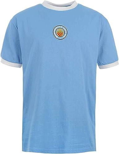 Camiseta clásica del Manchester City de los años 70 (100% algodón y tallas S a 2XL)