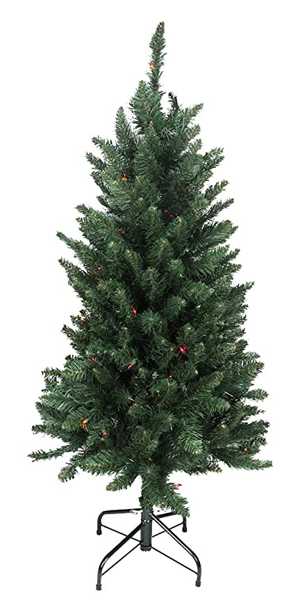 northlight 31465526 pre lit slim pine artificial christmas tree with multicolored lights 45