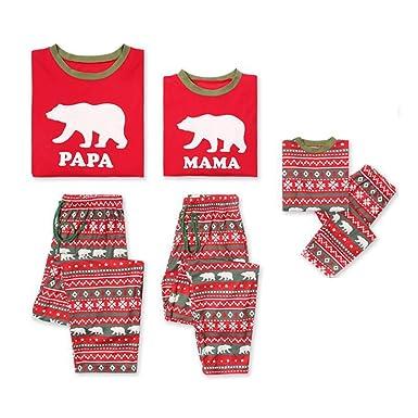 90aa70c5ce854 Junkai Ensembles de Pyjamas de Noël Family Matching Vêtements de Nuit  Vêtements de Nuit Homewear Outfit