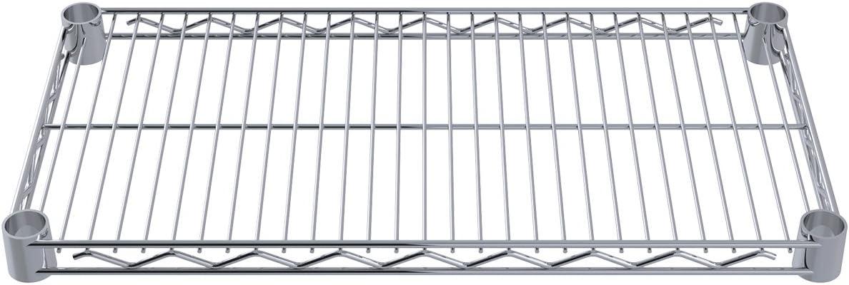B00L4EC9JG Akro-Mils AWS1224SHELF 12-Inch X 24-Inch NSF Approved Industrial Grade Chrome Wire Shelf, 4-Pack 615WlJDggXL