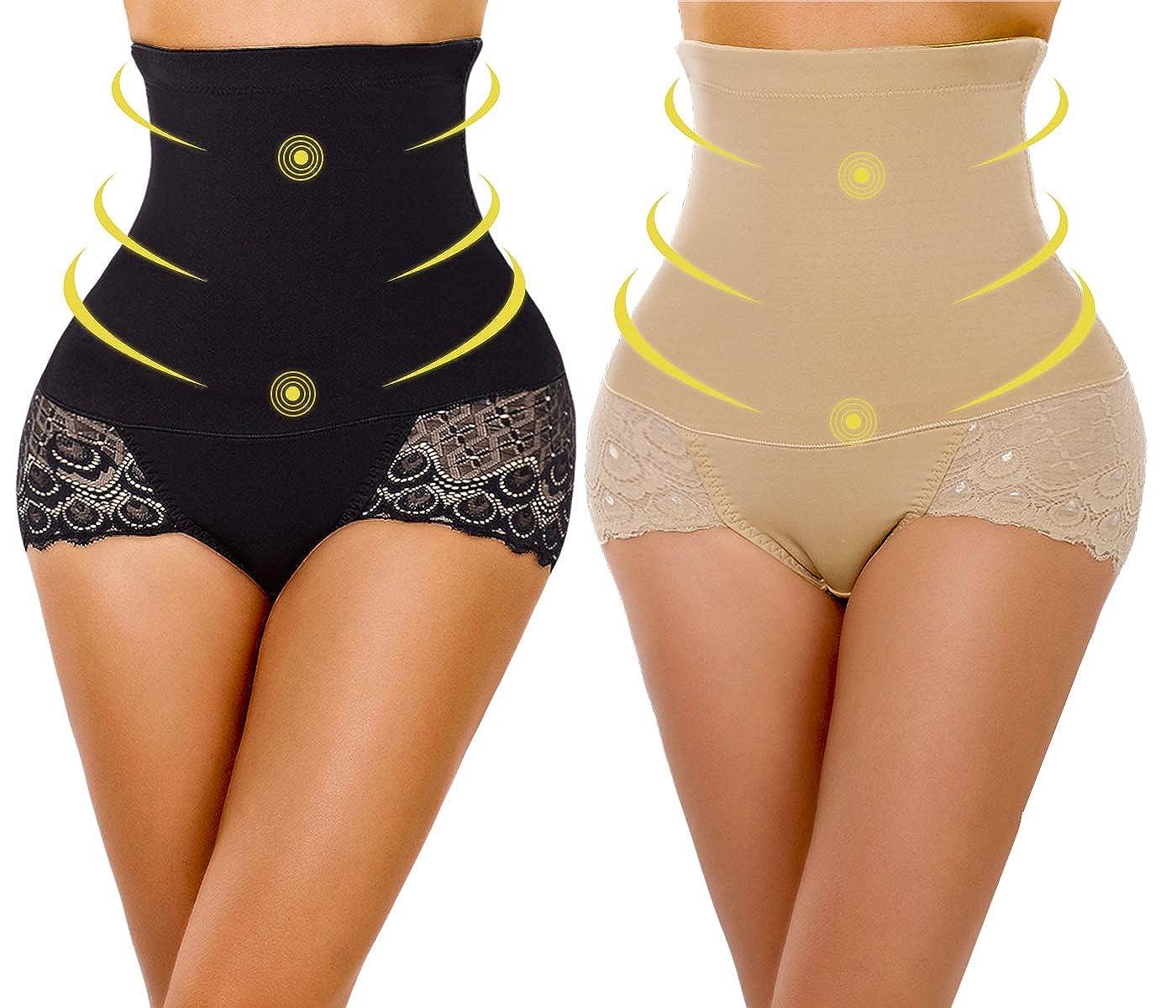YaShaer 2 Pack Body Shaper High Waist Tummy Control Butt Lifter Slim ca501015-01-parent