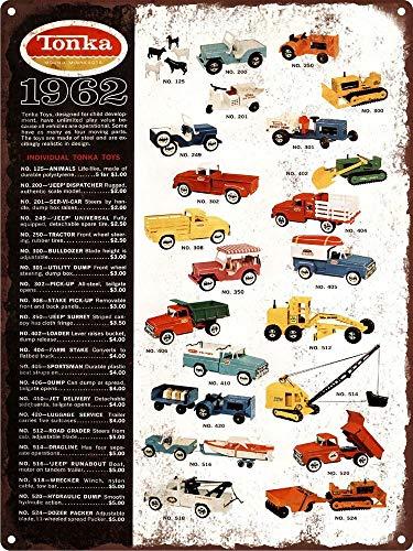 Yilooom 1962 Tonka Toy Metal Truck Wrecker Tow Shop Mancave Metal Sign Repro 8