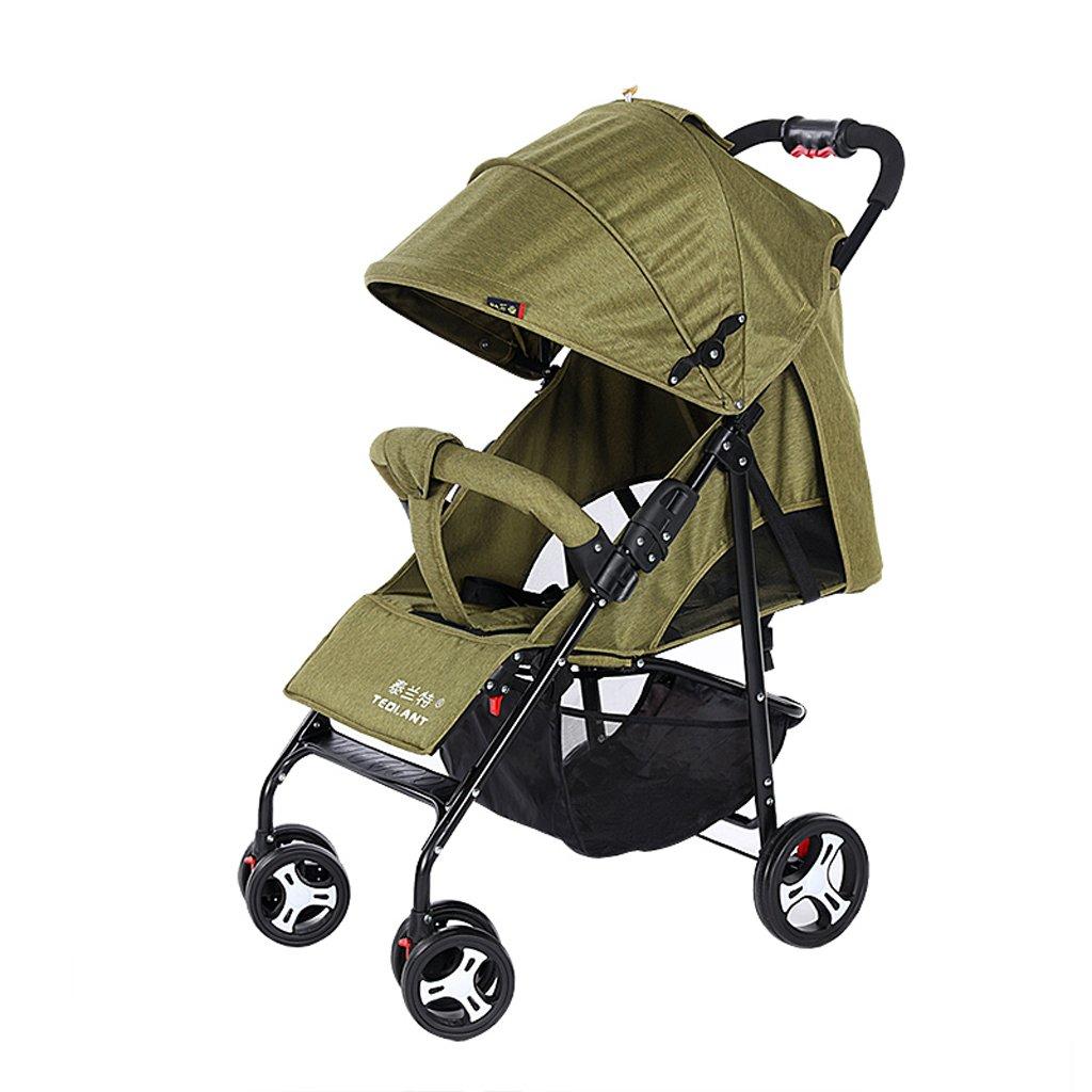 赤ちゃんのベビーカーは、超軽量のポータブル折りたたみ式ベビーベビーカー、青/緑/赤/グレー、64 * 102センチメートルに配置することができます ( Color : Green ) B07CDW4SBZ