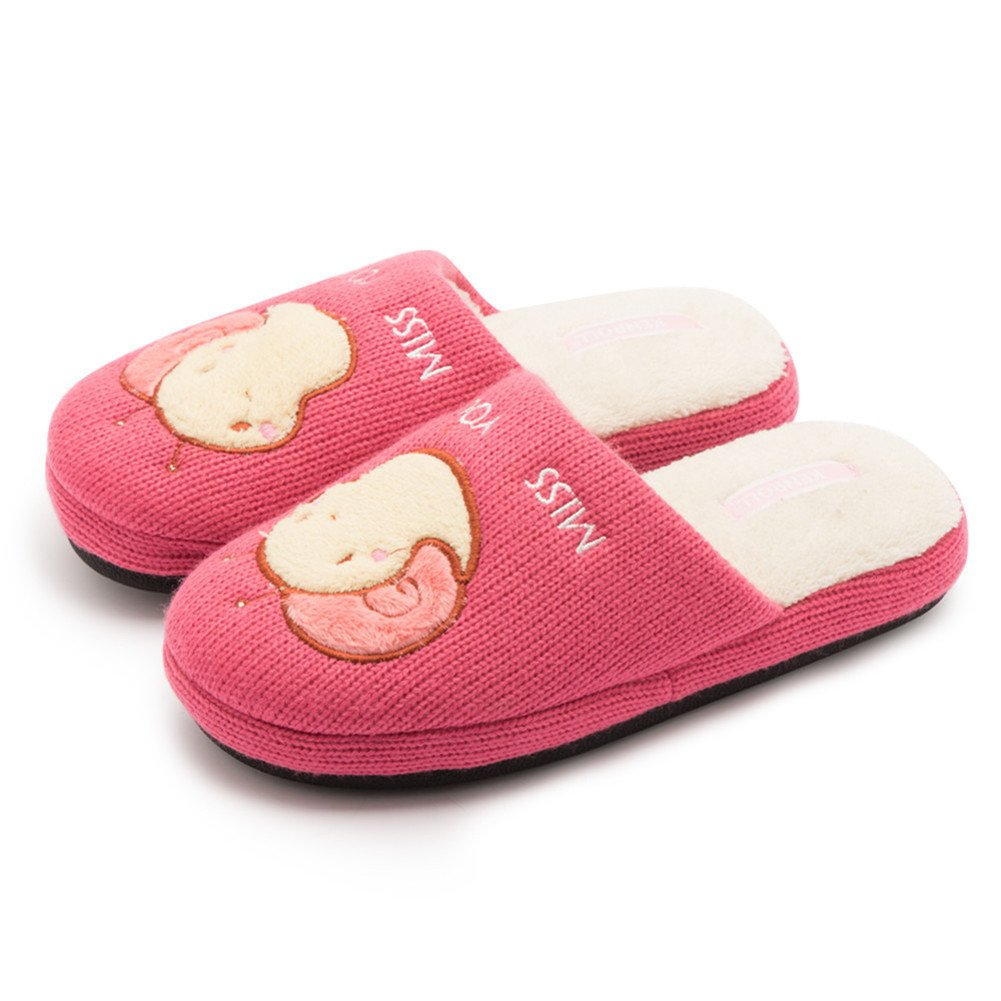 Kenroll Kids Cute Knitting Soft Velvet lining Comfort Slippers KK046