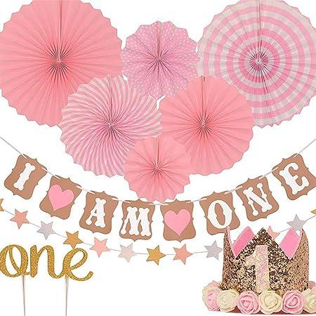 Fishyu Niños Fiesta Decoraciones Bebé 1 Año Viejo Cumpleaños ...