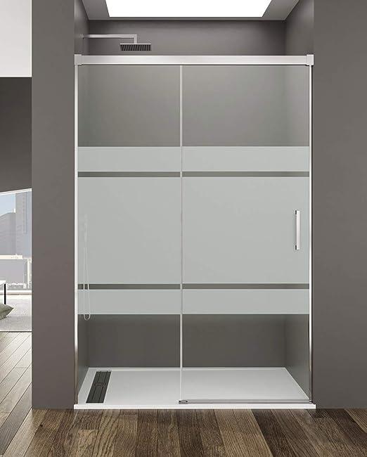 Mampara de Ducha - GME - Basic Frost Plus Frontal - 1 Hoja Fija + 1 Hoja Corredera (140-145 cm): Amazon.es: Bricolaje y herramientas