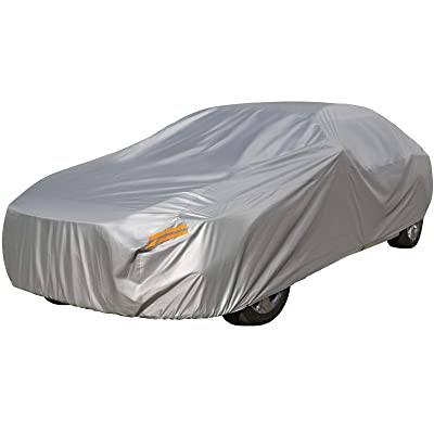 Waterproof Outdoor Car Covers, Sedan Auto Vehicle Cover Windproof Dustproof Scratch Resistant Outdoor UV Protection Universal Full Size Car Covers XXXL (194''-208''): Automotive