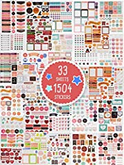 PLAN YOUR YEAR IN STYLEBreathe new life into planning and organizing your days, weeks and years! With the new and even bigger sticker set for planners by ZICOTO, you are well appointed with daily planner accessories. The XXL day planner stick...