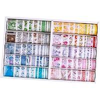 Abbraccia 100 Rolls Washi Tape Set, Decorative Masking Washi Tapes DIY Masking Tape Decorative Masking Washi Tapes for…